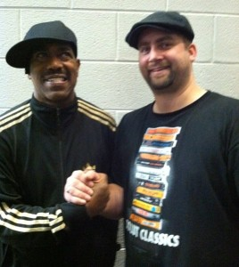 Legendary rapper, Kurtis Blow, and Mr. Throwback Thursday's Jamie Robinson