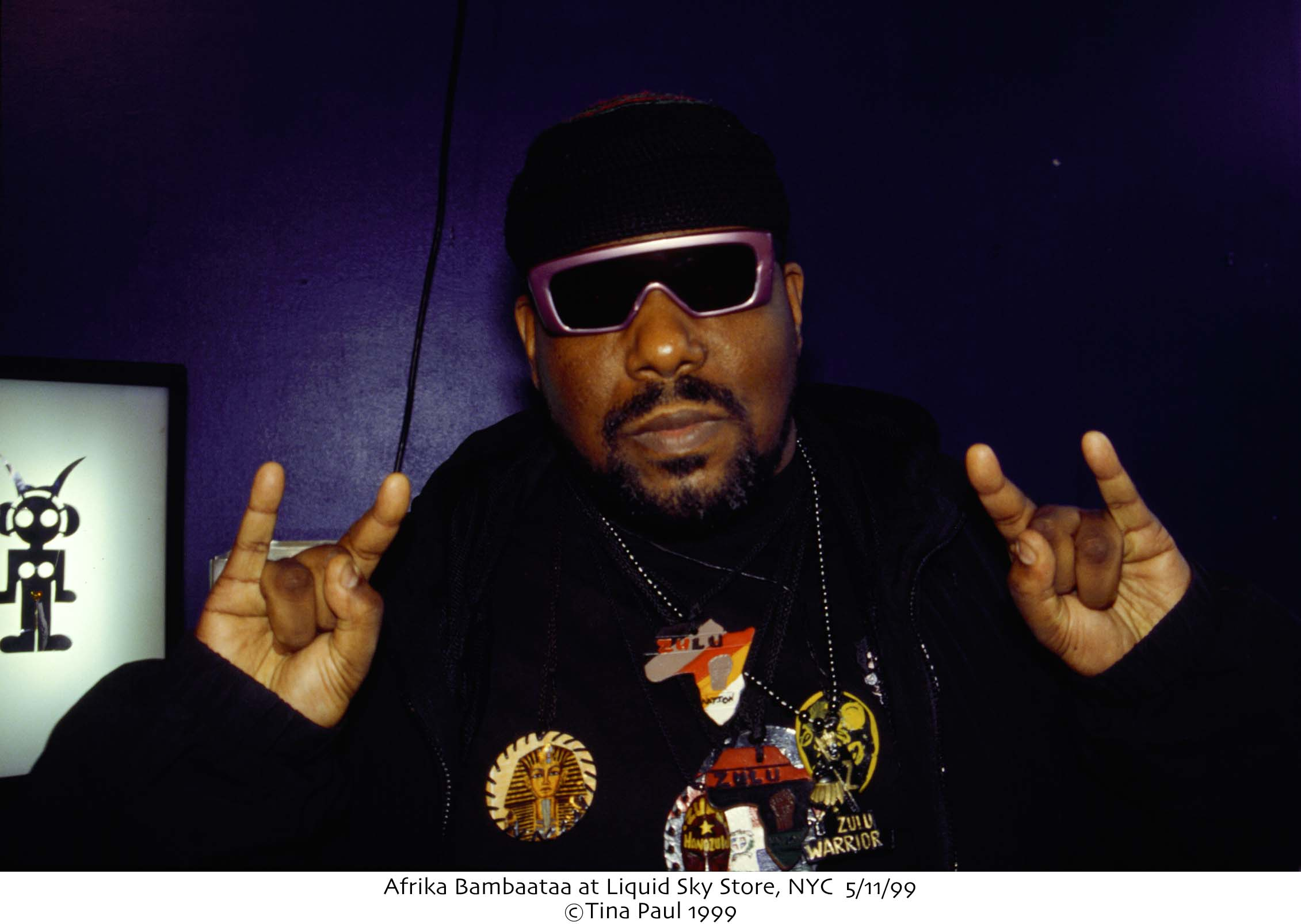 Afrika Bambaataa at Liquid Sky Store, NYC 5/11/99 ©Tina Paul 1999